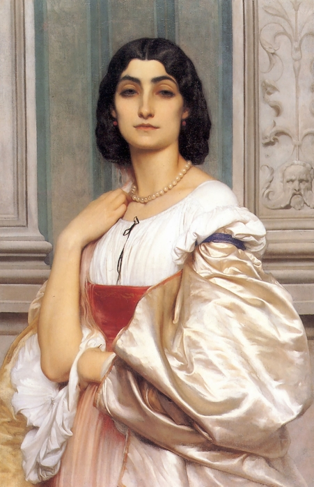 Патрицианка  (A Roman Lady)   1858-1859   80 х 52.1_Филадельфия, Музей искусства (451x700, 236Kb)
