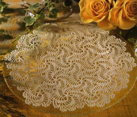 Ажурные салфетки - схемы вязания