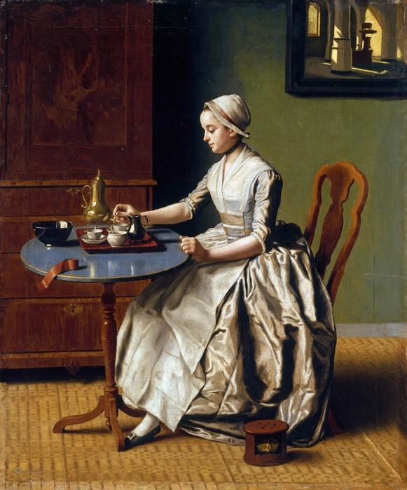 Дама, пьющая шоколад     1744      46 х 40   м.,х.  Лондон, Национальная галерея (581x700, 112Kb)