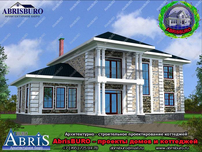 сто тысяч проектов коттеджей/3417827_house_K2050235_facade_3d (700x525, 152Kb)