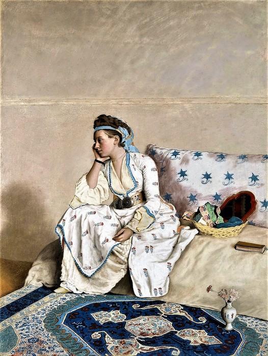 Мария Фарг, жена художника, в турецком костюме     1756-1758       103.8 х79.8 (526x700, 142Kb)