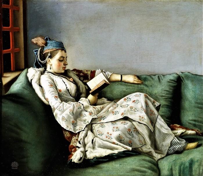 Портрет Марии Аделаиды Французской в турецком костюме     50 х 56     х.,м.   Флоренция, Уффици (700x607, 150Kb)