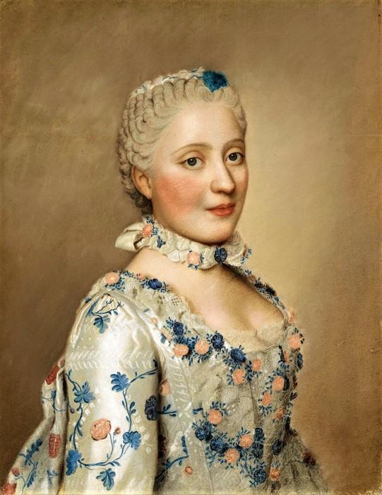 Портрет Марии Саксонской (1731-67), дофины Франции     1749      41 х 32.5    пергамент, пастель   Амстердам, Рейксмузеум (541x700, 110Kb)