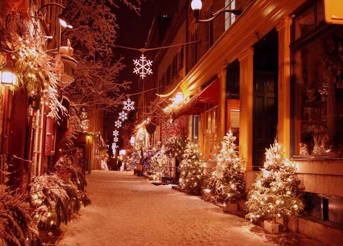 Украшенные улицы на новый год