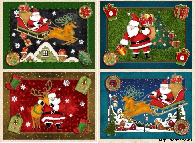 Картинки для декупажа. Новогодняя и рождественская тематика (2) (682x503, 318Kb)