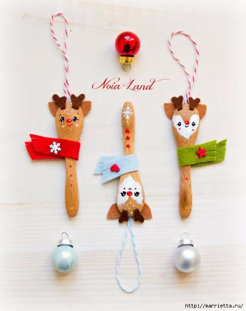 Рождественский олень - подвеска из деревянной ложки (10) (508x640, 146Kb)