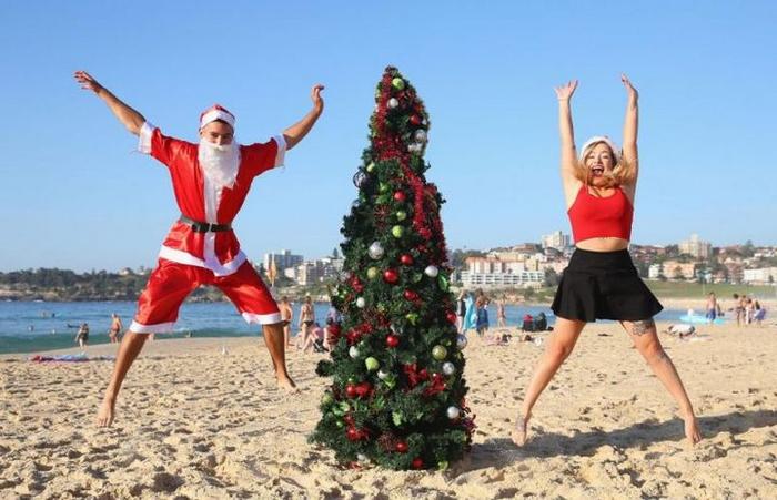 новый год на пляже в австралии 1 (700x451, 302Kb)