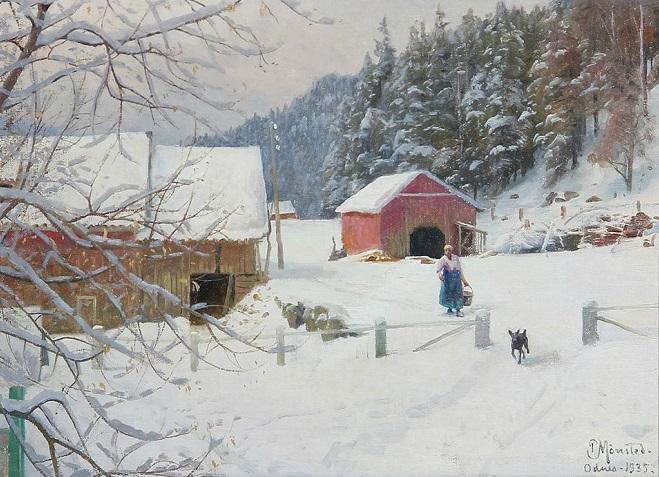 +Dia de inverno em Odnes, Noruega. 1935 (659x477, 347Kb)