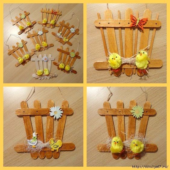 Поделки из палочек от мороженого своими руками для детей