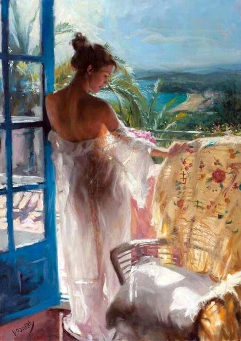 Vicente_Romero_Redondo_-_On_the_terrace. (494x700, 140Kb)