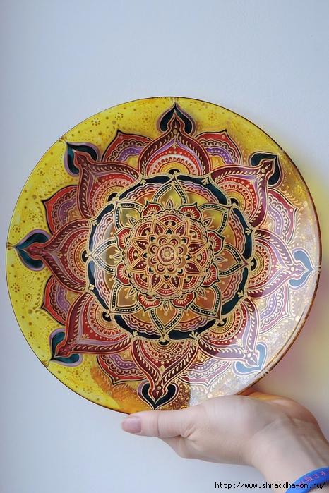 тарелка декоративная от Shraddha(5) (466x700, 309Kb)