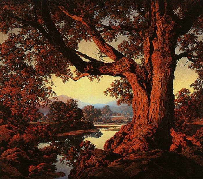 Parrish_Maxfield_Riverbank_in_Autumn_1938 (700x617, 222Kb)