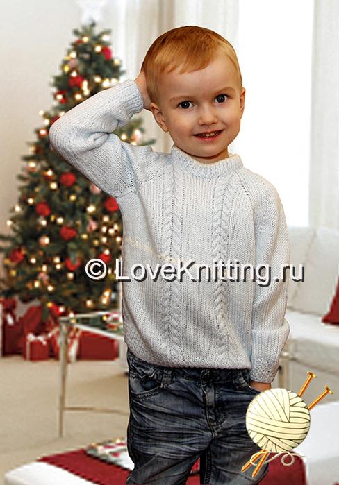 09 Автор Пуловер с косами 1 МТ2 (488x700, 326Kb)