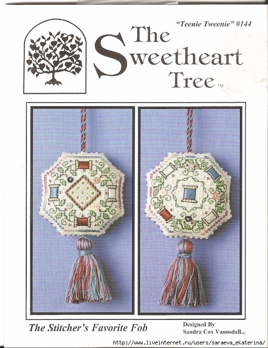 The Sweetheart Tree 144 The Stitcher's Favorite Fob (539x700, 303Kb)