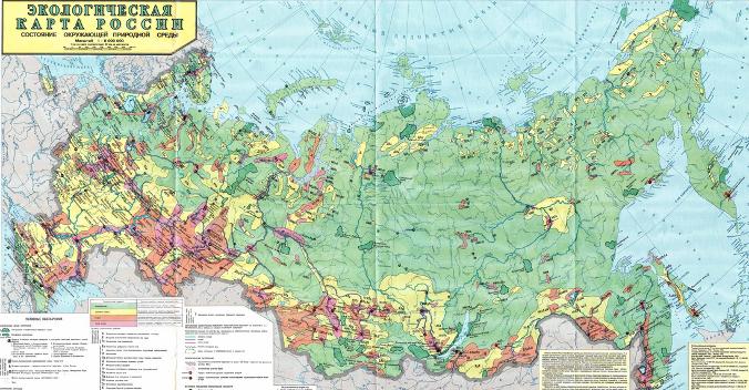 экологическая карта России (676x352, 519Kb)