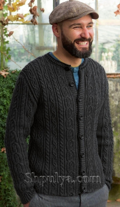 Схемы вязания мужских жакетов бесплатно