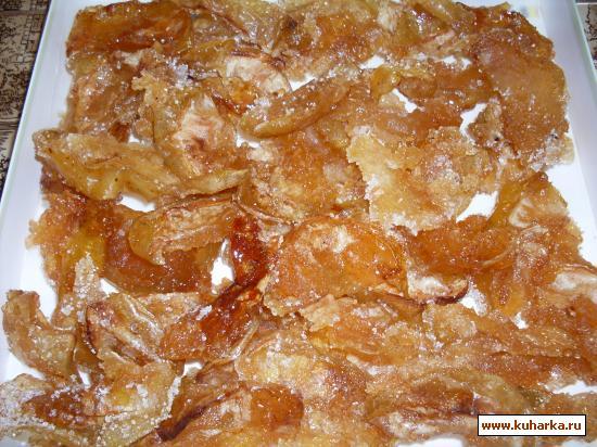 Сухое варенье из яблок в духовке рецепт