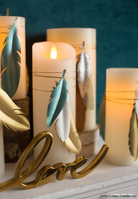 Candles_Paper_Feather_Decorations (486x700, 232Kb)