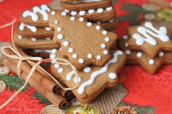 Рождественское печенье с корицей рецепт с фото
