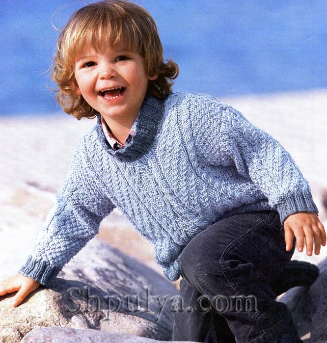 Узорчатый пуловер для малыша, Вязание <i>вязание спицами полувер для мальчиков</i> спицами для детей от 0 до 3 лет, схемы вязания для детей от года, вязание спицами от 0 с описанием, вязание для малышей, вяжем детям, вязание для малышей, схемы спицами, /5557795_1658_1 (666x700, 489Kb)
