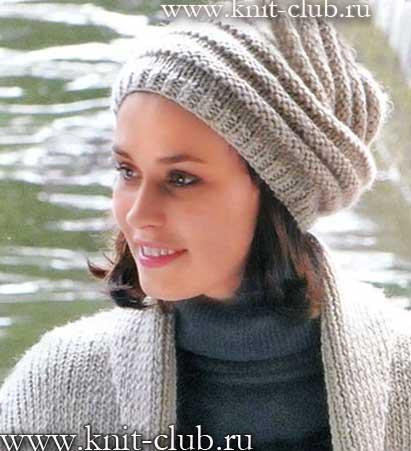 вязаные шапки из меланжевой пряжи для женщин