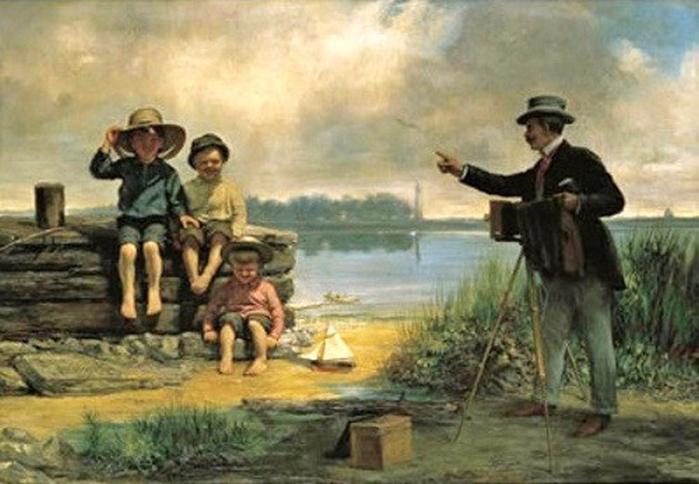 Alfred Boisseau (Paris-born American painter, 1823–1901) The Photographer (700x484, 323Kb)