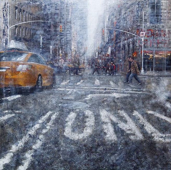 Дождь.....ANTONIO SANNINO, живопись