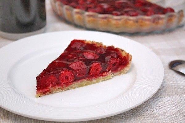 вишневый пирог из творожного теста (600x399, 160Kb)