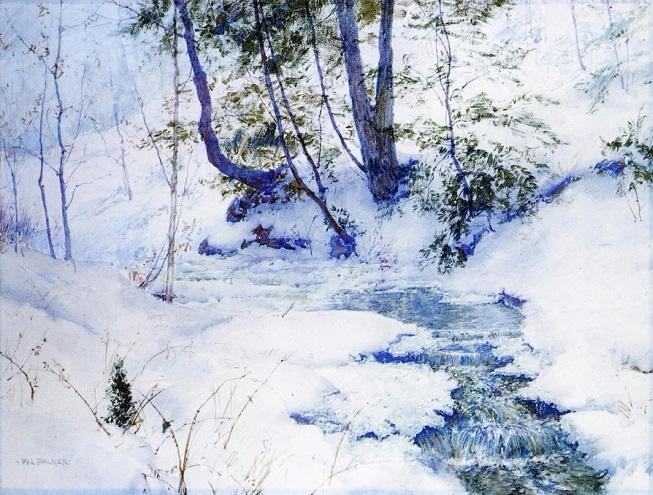 Ручей зимой. (653x495, 406Kb)