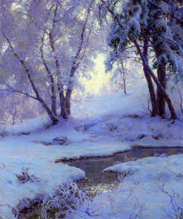 Зимний пейзаж. (586x700, 507Kb)