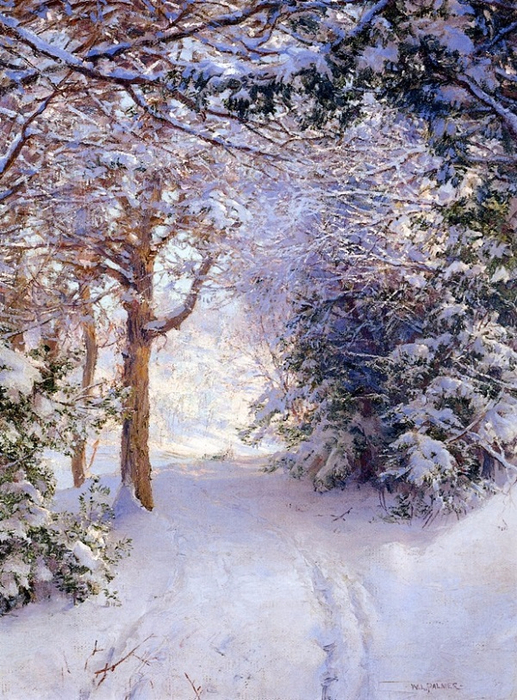 Снежный пейзаж. (517x700, 512Kb)