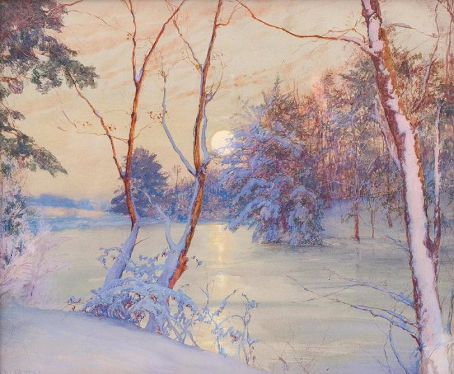 Winter Moonrise (653x538, 392Kb)