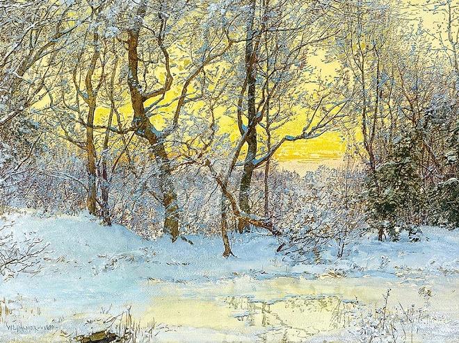 Снежный пейзаж (660x494, 674Kb)