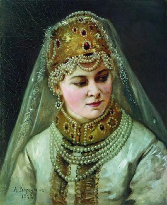 Алексей Корзухин. Боярышня. 1882 (570x700, 371Kb)