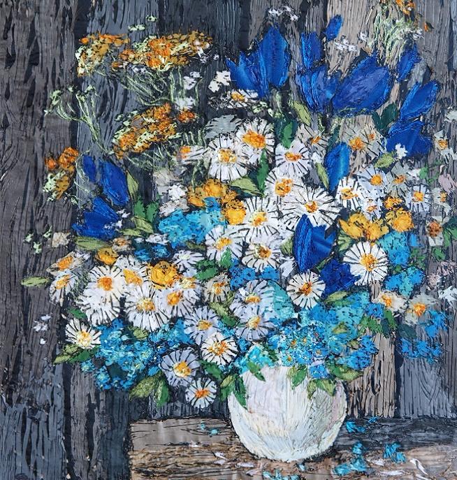 Букет полевых цветов. _khud_vyzhiganie_po_shelku_36kh33 (654x687, 817Kb)