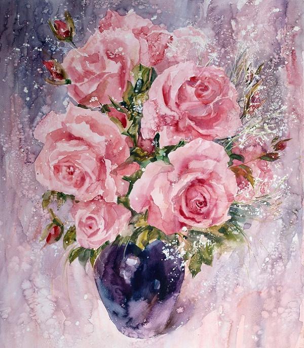 +Розы. Из серии  Цветочная феерия. (600x688, 553Kb)
