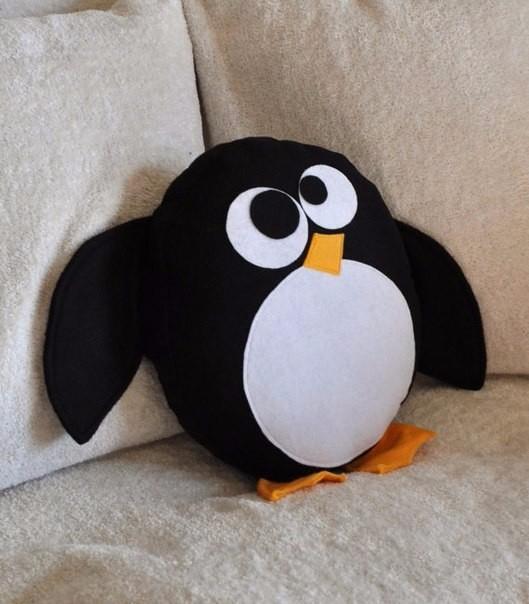 Декоративная подушка своими руками в виде животных