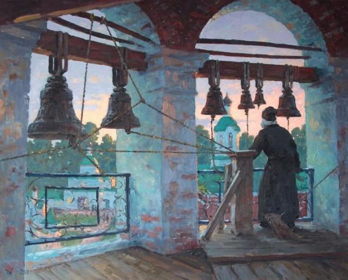 Александровский Александр  - Муром. На колокольне (700x563, 412Kb)