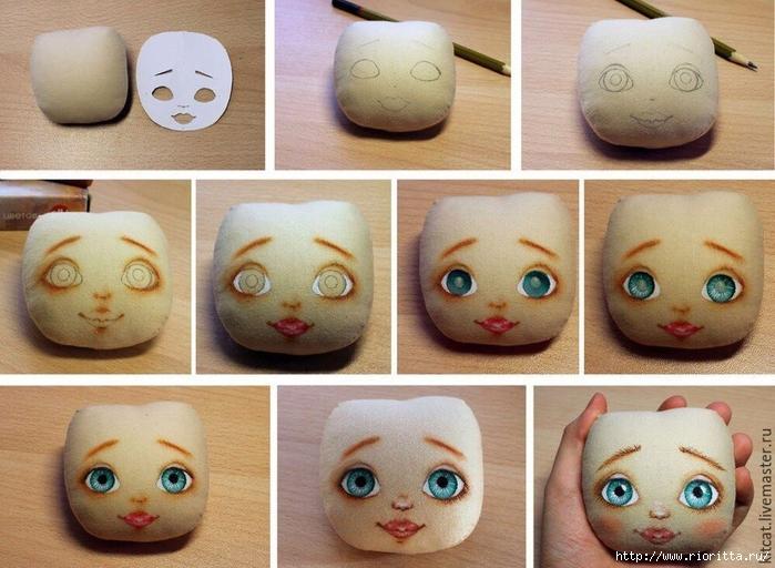 Учимся рисовать текстильной кукле лицо (700x512, 292Kb)