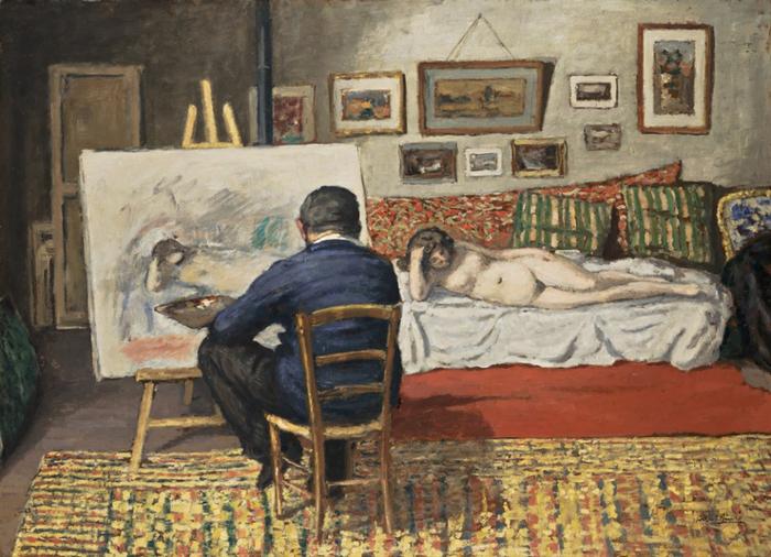 Albert André (Benjamin Marie Albert André) 1869-1954Albert André The Painter's Atelier (The Painter Durenne) (700x506, 426Kb)