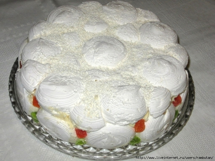 Торт из зефира с пошагово
