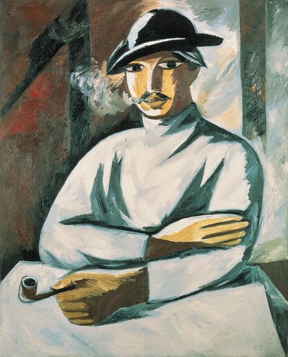 +Курильщик. Стиль подносной живописи. 1911. (565x700, 476Kb)