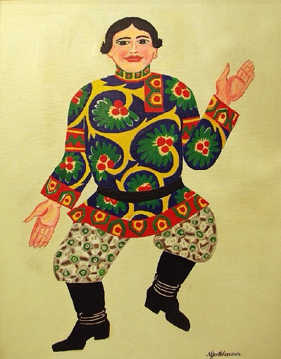 +Картина для балета Золотой петушок (muzhchina_v_russkom_kostume). 1914-1919 (399x509, 252Kb)