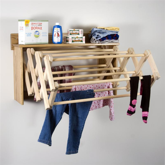 Wall-Mounted-Folding-Drying-Rack-With-Hangers (700x698, 297Kb)
