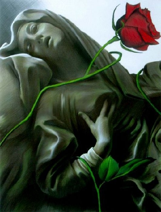 Red Dreams - Brita Seifert 1963 - Dutch Surrealist painter - Tutt'Art@ - (50) (532x700, 250Kb)