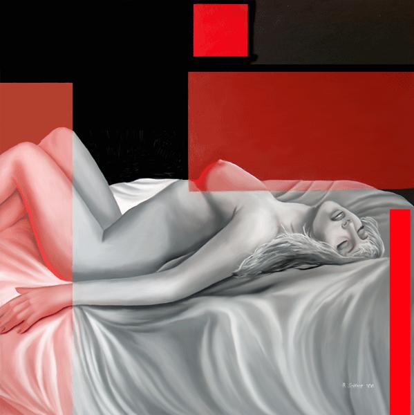Red Dreams - Brita Seifert 1963 - Dutch Surrealist painter - Tutt'Art@ - (65) (599x600, 135Kb)