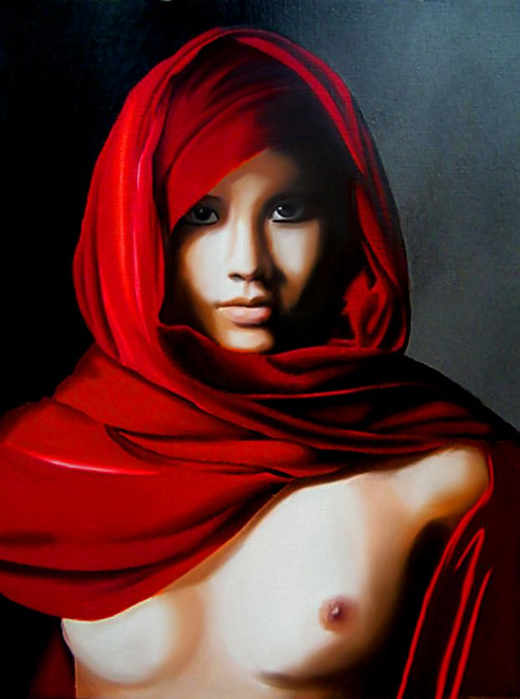 Red Dreams - Brita Seifert 1963 - Dutch Surrealist painter - Tutt'Art@ - (69) (520x700, 296Kb)