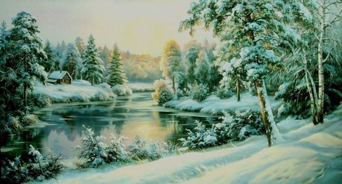 зима художники 4 (700x377, 305Kb)