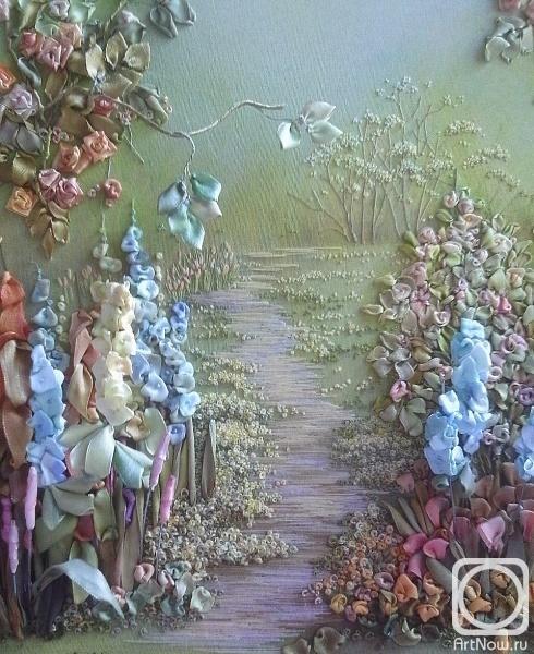 Юклянчук Анжела. Фрагмент работы Дорожка через сад (490x600, 213Kb)