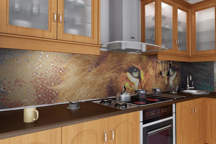 декоративная мозаика в интерьере 1 (700x466, 418Kb)